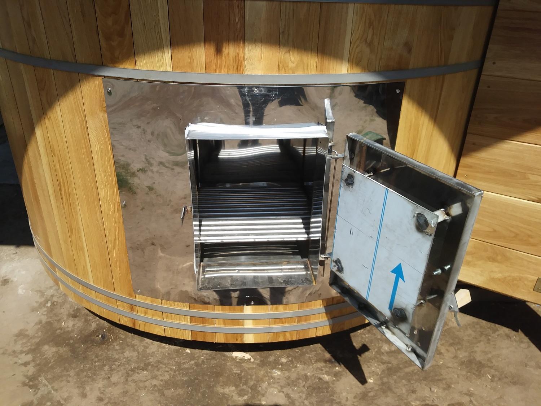 piec do sauny opalany przez ścianę